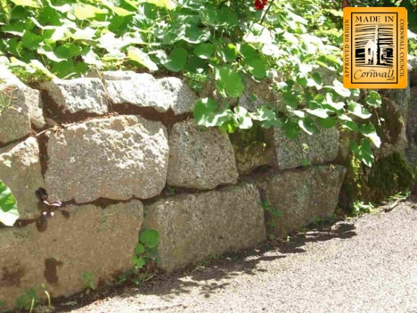 Cropped granite walling used on a drystone wall