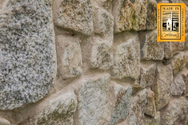 Hammered granite walling stone hand selected
