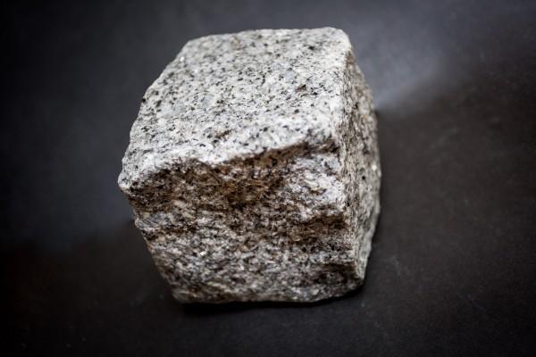 Silver grey granite sett sample