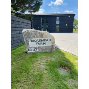 Bespoke Cornish granite boulder
