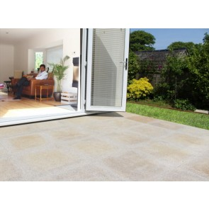 Brown granite patio paving used on a patio