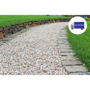Brown granite setts used as a boarder