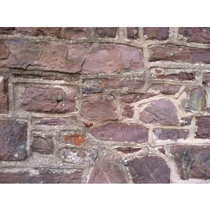 Red sandstone walling stone