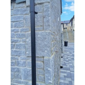 Grey granite walling stone as facing material