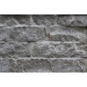 Limestone walling. Squared to create a coursed look