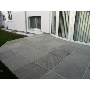 Grey sandstone patio paving packs