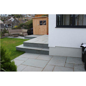 blue limestone paving pack used on  a paving area