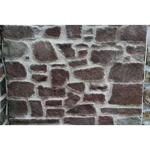 Red sandstone walling