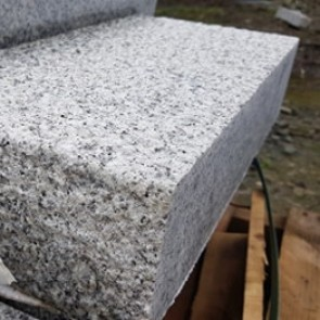 Fine picked silver grey granite quoins