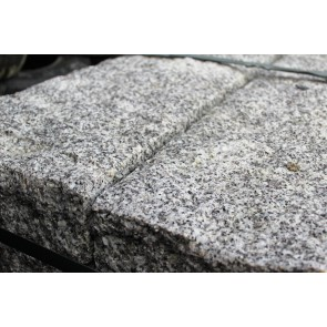 Silver grey granite gateposts