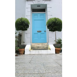 Granite paving used for front door