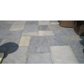 Black sandstone paving