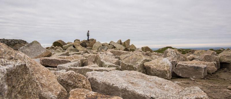 Cornish granite boulders