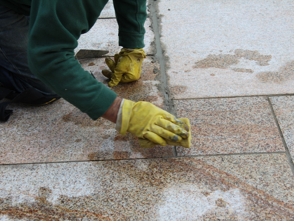 Pointing and grouting