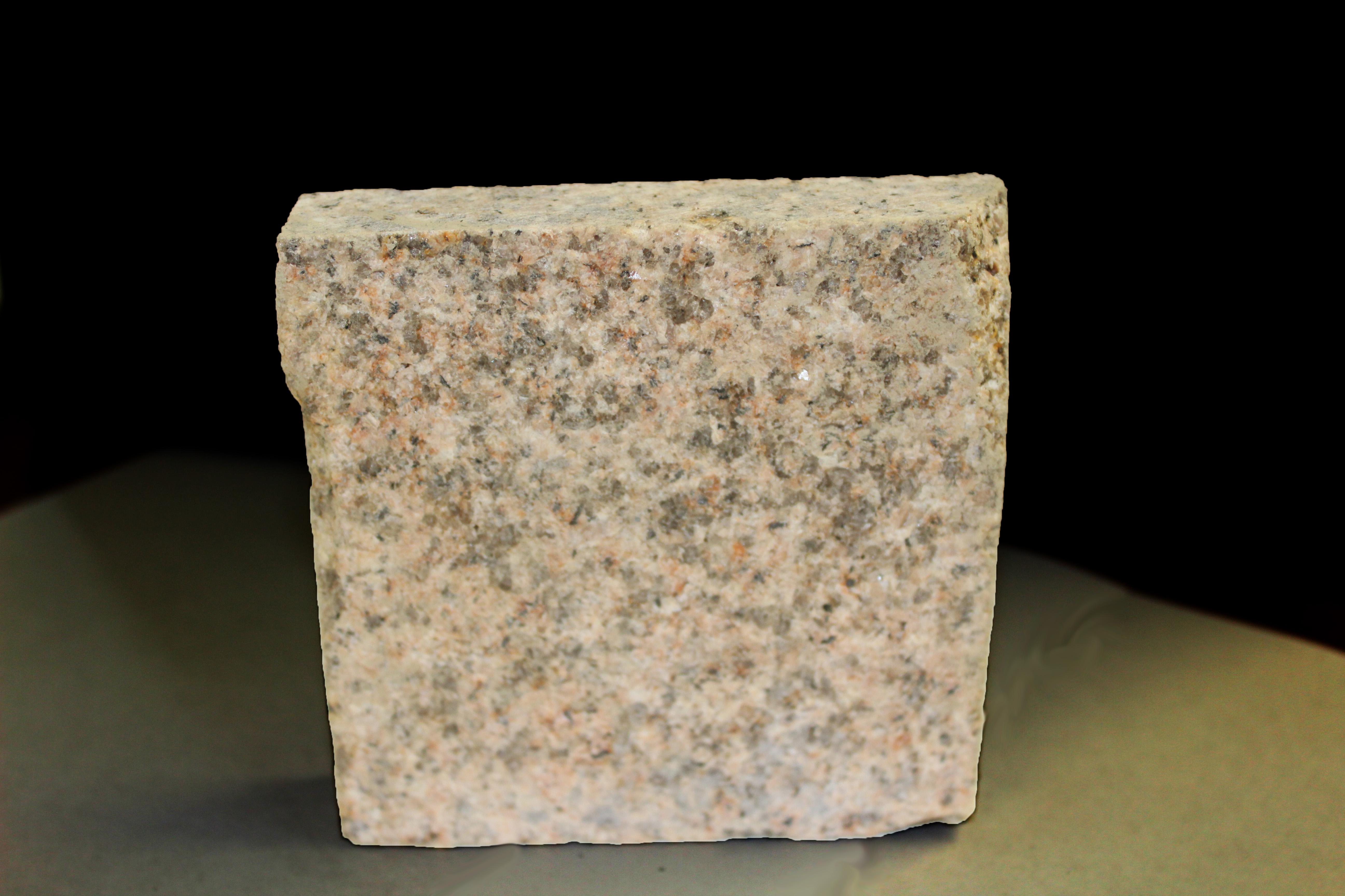 Brown granite paving sample