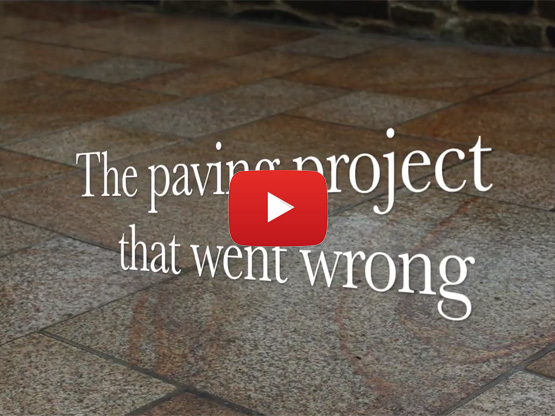 The paving project that went wrong